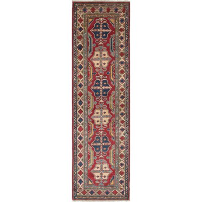 One-of-a-Kind Bernard Hand-Knotted Wool Dark Burgundy Area Rug