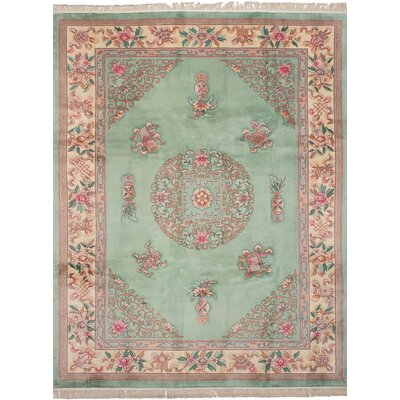 One-of-a-Kind Allen Park Hand-Knotted Wool�Light Green Area Rug