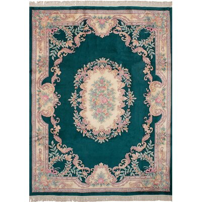 One-of-a-Kind Allen Park Hand-Knotted Wool�Dark Green Area Rug