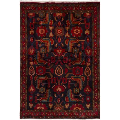 One-of-a-Kind Olmos Hand-Knotted Wool�Dark Navy/Dark Red Area Rug