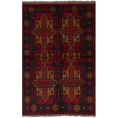 One-of-a-Kind Gomez Hand-Knotted Wool�Red Area Rug