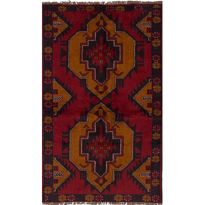 One-of-a-Kind Onawa Hand-Knotted Wool�Red Area Rug