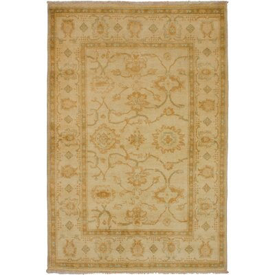 One-of-a-Kind Joule Hand-Knotted Wool�Cream Area Rug
