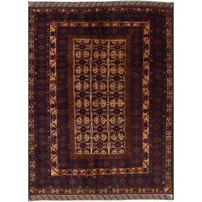 One-of-a-Kind Euler Hand-Knotted Wool�Cream/Dark Navy Area Rug