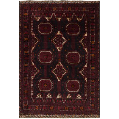 One-of-a-Kind Euler Hand-Knotted Wool�Dark Red Area Rug