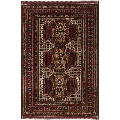 One-of-a-Kind Euler Hand-Knotted Wool�Cream/Red Area Rug
