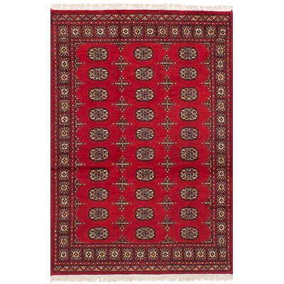 One-of-a-Kind Onondaga Hand-Knotted Wool�Red Area Rug