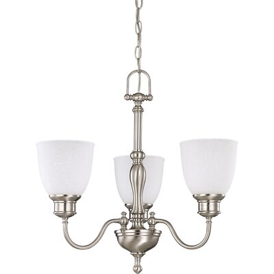 Killough 3-Light Candle-Style Chandelier Finish: Brushed Nickel