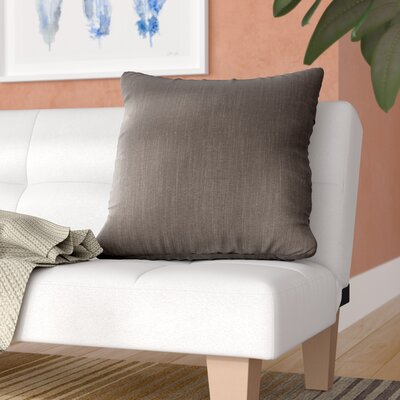 Alyssia Throw Pillow Size: 20 H x 20 W x 4 D, Color: Charcoal