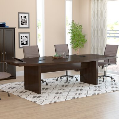 Gilberton Boat Shaped Conference Table Finish: Mocha, Size: 12 L