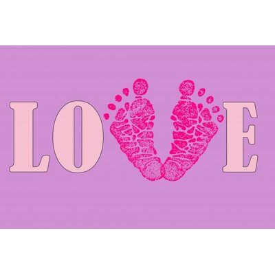 'Precious Baby Girl Footprint' Textual Art in Purple 964A408F7A474893ACCFC32DC80C2CC0