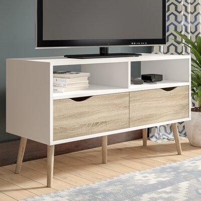 Mateer 40 TV Stand Color: White/Brown