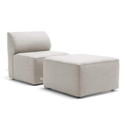 Big Joe Orahh Patio Sofa With Cushion Color: Silver