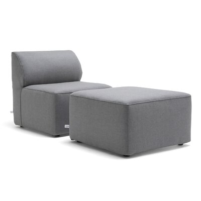 Big Joe Orahh Patio Sofa With Cushion Color: Gray