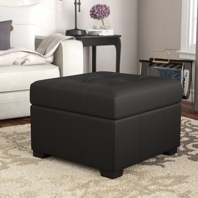 Grace Storage Ottoman Upholstery Color: Leather Look Black