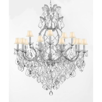 Lazaro 16-Light Crystal Chandelier Finish: Silver