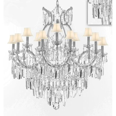 Dacia 16-Light Crystal Chandelier Finish: Silver