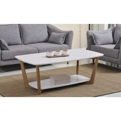 Simmon Coffee Table Table Top Color: Matte White