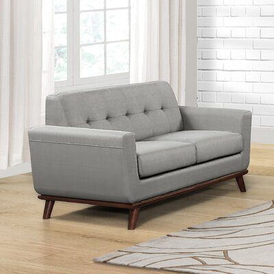 Teterboro Upholstered Loveseat Upholstery: Dove Gray