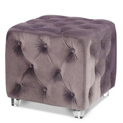 Arsen Cube Ottoman Upholstery: Gray