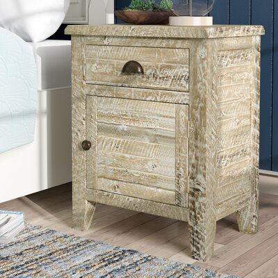 Leonora 1 Drawer Nightstand Color: Washed Gray