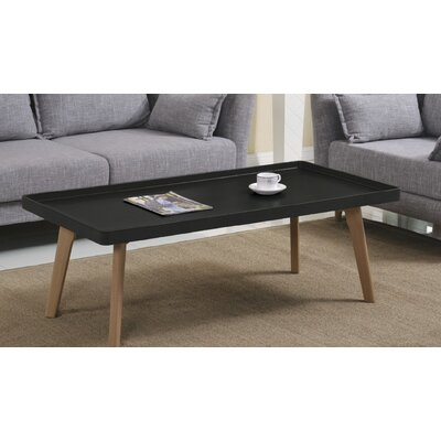 Simmerman Raised Edge Coffee Table Table Top Color: Matte Black