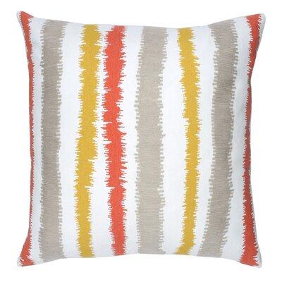 Stitch Stripe Cotton Throw Pillow Color: Citron
