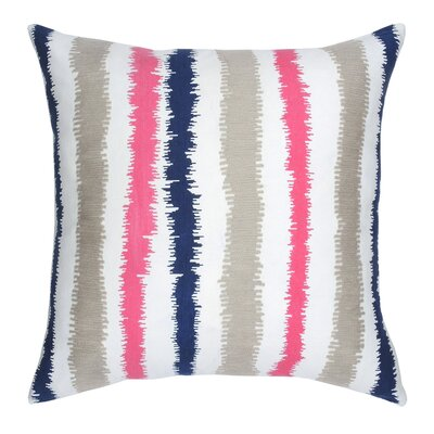 Stitch Stripe Cotton Throw Pillow Color: Cobalt