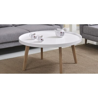 Simeone Raised Edge Coffee Table Table Top Color: Matte White