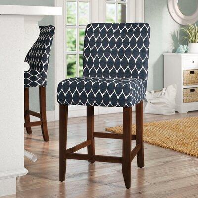 Marina Classic Parsons 25 Bar Stool Upholstery: Textured Navy