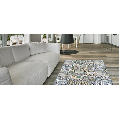 Hinman Paisley Rubber Backed Gray Area Rug Rug Size: Runner 110 x 69