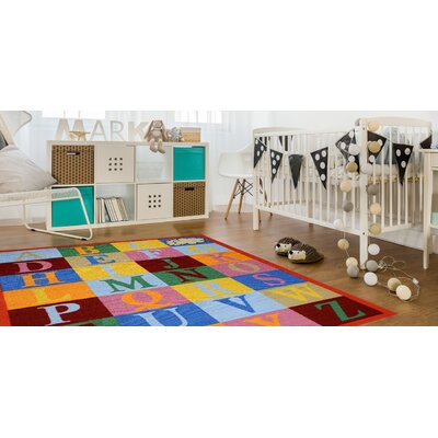 Jessee Alphabet Red/Blue Area Rug