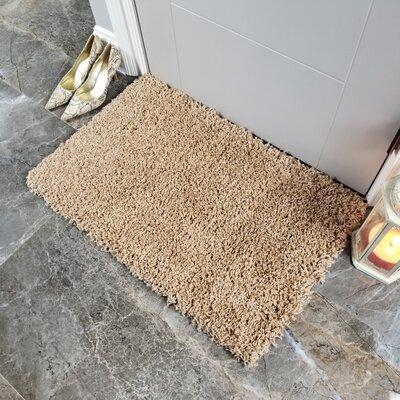 Komar Solid Shag Doormat Color: Beige