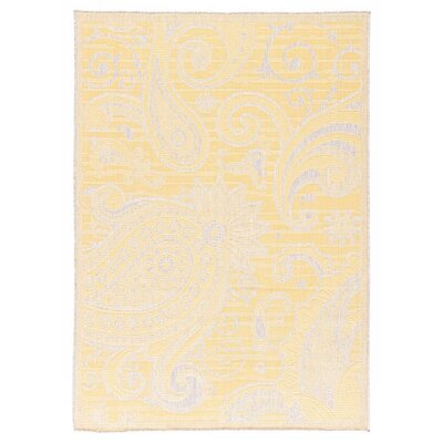 Hinnant Reversible Yellow/Beige Indoor/Outdoor Area Rug Rug Size: Runner 27 x 79