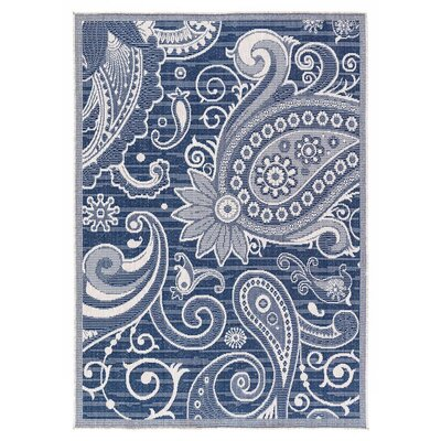 Hinnant Reversible Blue Indoor/Outdoor Area Rug Rug Size: Rectangle 710 x 10