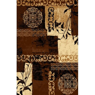 Classen Floral Ivory Area Rug Rug Size: Rectangle 53 x 73