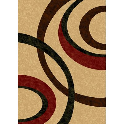 Pilewicz Swirls Ivory Area Rug Rug Size: Rectangle 710 x 910