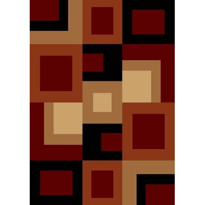 Pilewicz Red/Beige Area Rug Rug Size: Rectangle 53 x 73