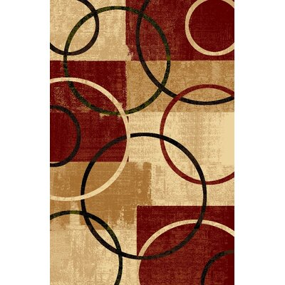 Pilewicz Swirls Yellow/Red Area Rug Rug Size: Rectangle 710 x 910