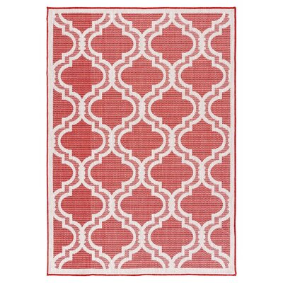 Kinney Reversible Red Indoor/Outdoor Area Rug Rug Size: Runner 27 x 79