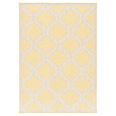 Kinney Reversible Ivory Indoor/Outdoor Area Rug Rug Size: Rectangle 53 x 76
