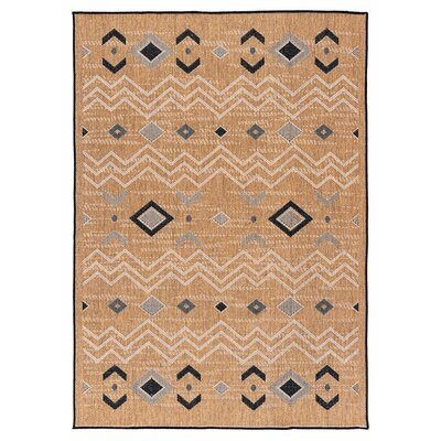 Tseng Reversible Brown Indoor/Outdoor Area Rug Rug Size: Rectangle 710 x 10