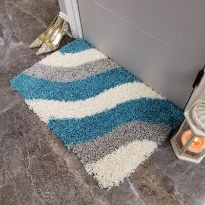 Komar Striped Shag Doormat