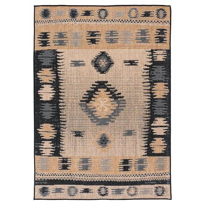 Tseng Reversible Brown/Black Indoor/Outdoor Area Rug Rug Size: Runner 27 x 79