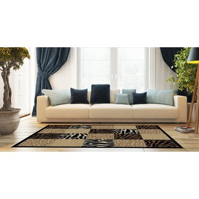 Woodman Wild Tiles Brown/Cream Area Rug Rug Size: Rectangle 710 x 910