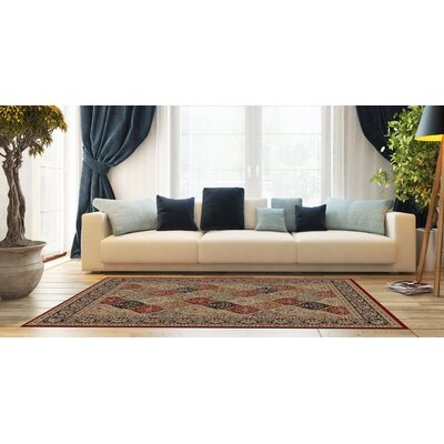 Woodman Blue/Red Area Rug Rug Size: Rectangle 53 x 73
