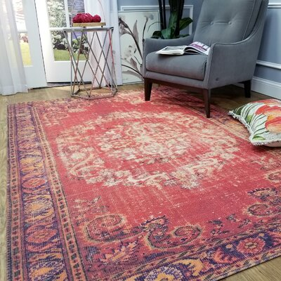 Wooldridge Gypsy Elegance Red Area Rug Rug Size: Rectangle 67 x 97