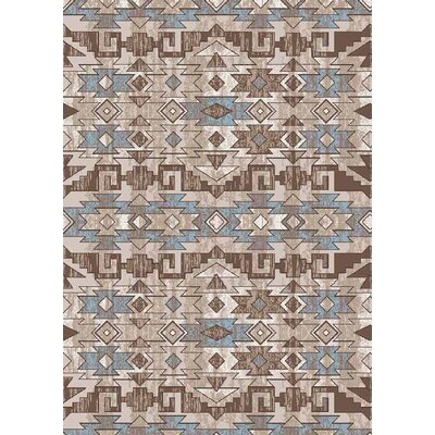 Tucci Brown Area Rug Rug Size: Rectangle 5 x 66