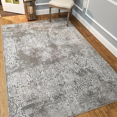 Wintergreen Silky Treasure Silver Area Rug Rug Size: Rectangle 82 x 910