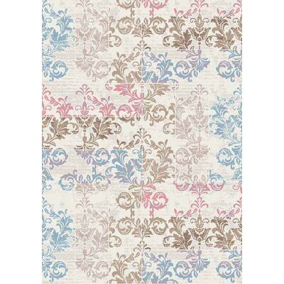 Nordquist Light Blue/Light Gray Area Rug Rug Size: Rectangle 5 x 66